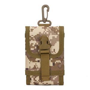 Kit de ferramentas de campo de camuflagem de tática ao ar livre pacote de peças de alforje de bolso do telefone móvel bolso pequeno mais função pacote de Molle