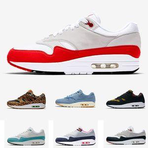 Nike air max 1 correnti del mens 87s formatori Olimpiadi Anniversario Designer Pelle di leopardo Sport scarpe da tennis Taglia 36-45 spedizione gratuita