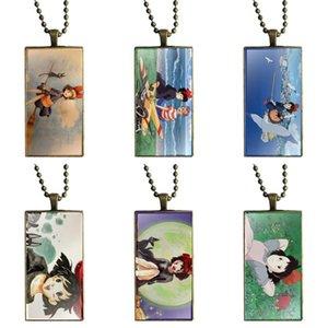 EJ Glaze Kikis service de livraison Collier Fashion Watercolors à longue chaîne avec des bijoux Collier Rectangle pour les femmes