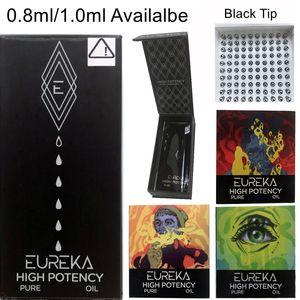 Cartouches Eureka Vider Vape Pen Emballage de cartouche en céramique 0.8ml 1 ml en verre épais huile-cire Vaporizer Chariots E Cigarette 510 fil