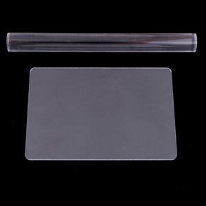 2 Sets Acrylic Clay Roller with Acrylic Sheet Backing Board for Shaping and Sculpting, Smooth and Durable