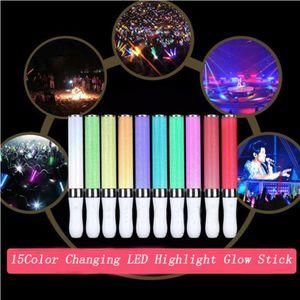 15 colori LED Cambiare Evidenziare bastone di incandescenza esterna Attenzione Luce Stick