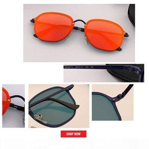 new Fashion Trend 3574N BLAZE hexagonal Style Sunglasses Vintage Retro Brand Design Color Mirror Sun Glasses Women Oculos De Sol uv400 gafas