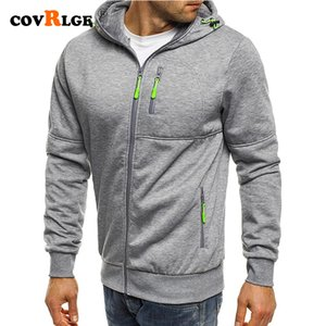 Covrlge Spring Men's Jackets Hooded Coats Casual Zipper Sweatshirts Male Tracksuit Fashion Jacket Mens Clothing Outerwear MWW148 Y200519