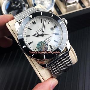 Lüks Süper Okyanus Miras II 46 AB202012.G828.152A Beyaz Dial Japonya Miyota Mekanik Erkek İzle Seramik Bezel Çelik Kasa Spor Saatleri