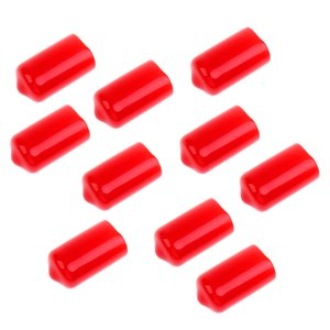 10 Pieces Snooker Billiard Cue Tip Rubber Protector Red