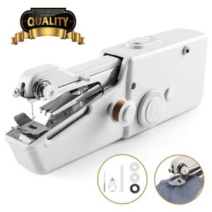 DIY Portable Household Mini Hand Sewing Machine Quick Stitch Sew Needlework Cordless Clothes Fabrics Electronic Sewing Machines DHL Shipping