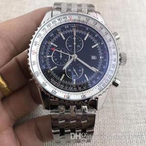 Yüksek kalite ve çoklu saat dilimleri W New izle Havacılık Chronograph 1 Serisi A24322121C2A1 gmt 46mm Kuvars Erkek moda saatler