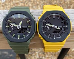Военные мужские Shock Часы 2100 Camo Green New Color Hot Sale Автоматическая Analog Digital G Наручные часы для мужчин оптом с коробкой Shock Часы
