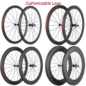 Factory Sales 38 50 60 88mm Carbon Road Bike Wheelset With R13 Hub 23mm+Basalt Brake Surface Carbon Wheels