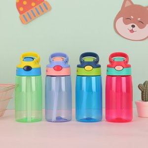 430ML Water Bottle With Straw Plastic Water Bottles For Kids Bottles BPA Free Sports Bottle Student School Drinkware