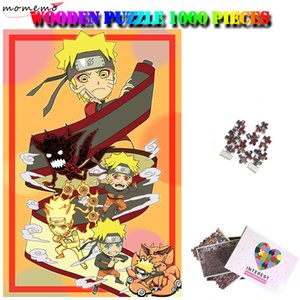 Growth of Naruto 1000 Pieces Wooden Puzzle Specific Cartoon Anime Jigsu Puzzu Adult Assembling Ty Home Decor T200421