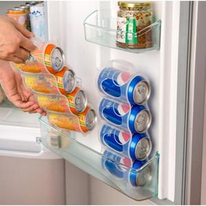 Kühlschrank PP Aufbewahrungsbehälter-Cola Beverage Platzsparender Finishing Vier-Kasten-Flaschen Container-Home-Organizer Küche Kühlschrank Cans
