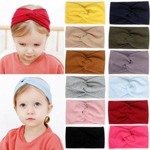 Baby Stuff Acessórios Kid Baby Girl Headband criança ata Bow Faixa de Cabelo Acessórios Headwear sólido elástico Lace Cruz Headcrap