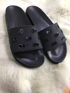 Fashion G Hollow Out Women Designer Shoes Slides Summer Men Beach Indoor Flat G Sandals Slippers House Flip Flops US Size 4.5-12
