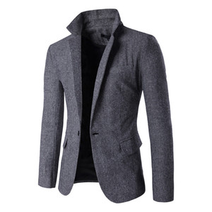 Mens Designer Blazers seul bouton col en V Slim Man Blazers manches longues Blazers Hommes avec poches Casual Male Outerwears
