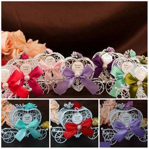 Metall-Weiß-Wagen Chocolate Box Princesses Birthday Party Süßigkeiten Box Hochzeit Bevorzugungen Dekoration Weihnachten Geschenkpapier T2I5699