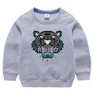 2020 bambini I hoodies bambino felpa con paillettes autunno bambini felpa cappotto pullover 100% cotone lungo dei vestiti del manicotto del ragazzo