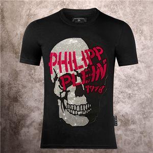 cranio maschile 2020 stampato Phillip lettera semplice trapano acqua diamante cotone PP tendenza estate QP manica corta T-shirt