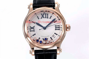 Лучшие HAPPY DIAMONDS Bucherer Синие издания Женские часы Алмазная леди часы швейцарские автоматические механические Сапфир кристалл розового золота 18К
