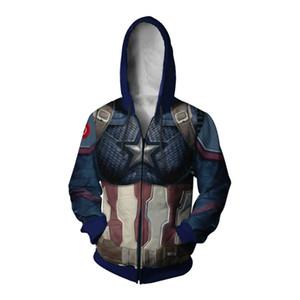 Marvel Avengers 4 Endgame America Captain Thanos Coat Quantum Realm Tops Anime 3D Sweater Cosplay Sweater
