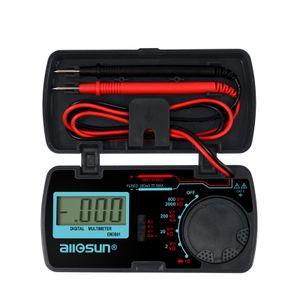 LCD Mini multimetro digitale DC / AC DC voltmetro amperometro OHM tester auto della gamma Handheld DMM diodo e continuità accurata Multitester EM3081