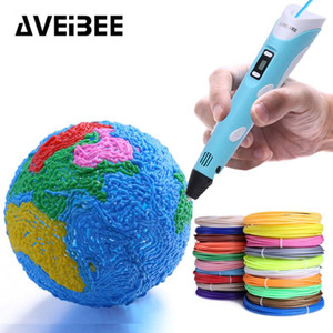 3D Pen Original DIY 3 D Printing Pen With 100M 20 Color PLA Filament ABS Plastic Creative Toy Gift For Kids Design Drawing