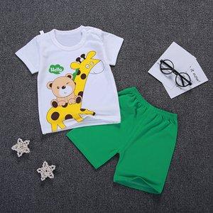 Baby Boy Set Cartoon T-shit+Shorts Kids Clothes Outfit Suit Cute Children Summer Cotton 3-10 Years Boys Clothes Sets