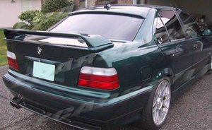 Para BMW E36 M3 E36 2DR Alerón 92-98 4DR Tronco capas dobles del ala alerón de fibra de vidrio sin pintar Spoiler