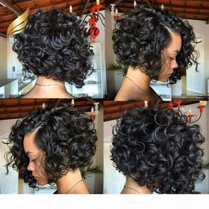 Short Bob Cut Full Lace Wig Human Hair Long Bob with Side Part Lace Front Wigs For Black Women Bella Hair