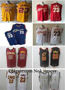 Yeni Bayan Erkek Cleve Kara Le Bron 23 James Gerileme Basketbol Formalar Beyaz Gri Kırmızı Siyah Lacivert Sarı ClevelandCavaliersnba