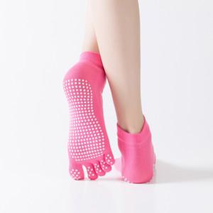 Nuevos calcetines de yoga profesionales de punta completa calcetines antideslizantes de silicona de trampolín deportes fitness damas absorbentes de sudor cuatro estaciones