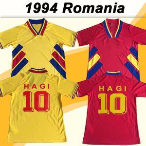 1994 루마니아 국가 대표팀 망 축구 유니폼 HAGI RADUCIOIU POPESCU 루마니아 홈 어웨이 레트로 축구 셔츠 반소매 성인 유니폼