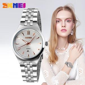 SKMEI para hombre relojes de primeras marcas de lujo calendario de la moda del reloj de pulsera de cuarzo resistente al agua 3bar del relogio Masculino 9071