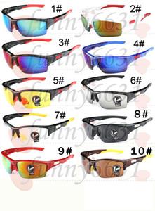 Yaz adam spor Bisiklet güneş gözlüğü gözlükler kadınlar Bisiklet gözlüğü Spor Açık Dazzle renk sürüş gözlük 10 renkler ücretsiz kargo