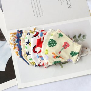 Cute Cartoon Printing Cotton Kids Breathable Anti Dust Smog Mask School Outdoor Protective Face Cover Mask with Filter