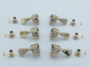 Altın Grover Gitar Tuning Peg Makine Başkanları Tunerleri Elektro Gitar Tuning Pegs 3R + 3L