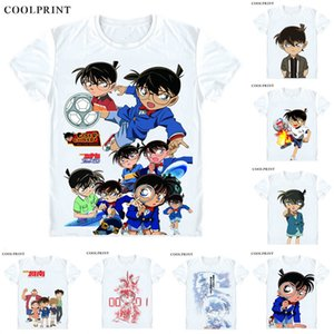에도가와 코난 지미 쿠도 티셔츠 Meitantei Conan Case Closed Detective 남성 캐주얼 TShirt Premium T-Shirt 프린트 반소매 셔츠