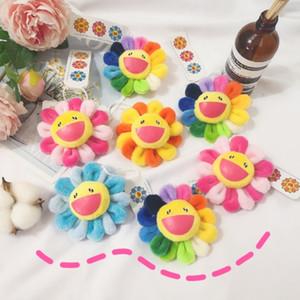 Designer Rosto Sorridente Colorido O Sol Flor broche de pelúcia crianças broches Crachá Carteira Pingente Acessórios NE1078