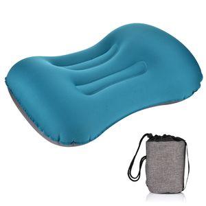 Almofada macia Neck Protective Descanso para Cabeça Pillow Portátil Viagem Outdoor Camping Pillow compressível inflável