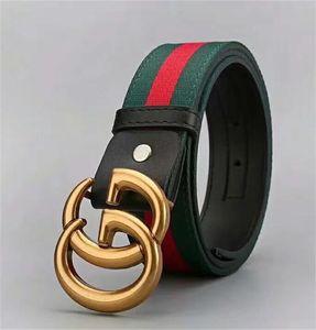 Hot sale luxury designer belt men's belt luxury belt top fashion casual business leather big gold buckle 6434