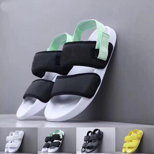 Hot Sale-New Sandales d'été Noir Blanc Sandales tory Mode jaune Luxury Beach Party Chaussons Amont Slides Chaussures