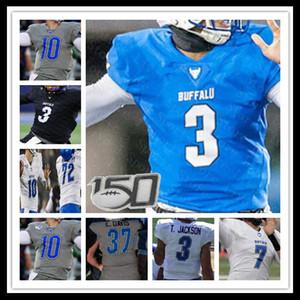 Buffalo Bulls Tyree Jackson Khalil Mack Jaret PATTERSON ANTONIO NUNN Kevin Marks College Football Jersey Preto Azul personalizado de Homens NCAA 150