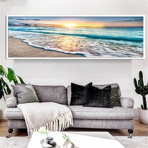 5D DIY square round Diamond Painting Large size Sale Seascape Beach Wave Sunrise Over Sea Art Set Mosaic Diamond Embroidery AS2