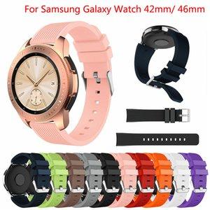 Venda de la correa del reloj de silicona suave para el Galaxy de Samsung reloj 42mm 46mm Reemplazo de colores Bandas correa de muñeca para Galaxy reloj Smart Watch