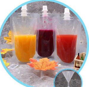 Bebida bolsas Bolsas Soya estande boca bebida sucção suco de leite - no saco translúcido Stand-Up Beber Bag Bolsas Bolsas KKA7872
