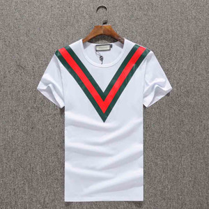 New style unisex T-shirt embroidery menswear design menswear fast delivery summer round neck cotton sports T-shirt