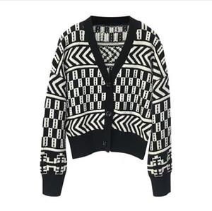 Winter Knit кардигана женщин Осень Удобный хлопок свитер Корея черный V шеи Ленивый Elegant Short Сыпучие INS Jacket