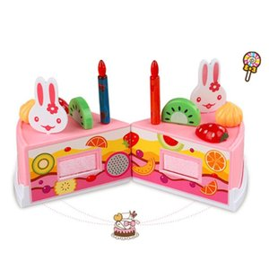 Children Kids Kitchen Toys DIY Cutting Birthday Cake Pretend Play Food Toys