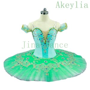 Adult Mint Green Professional Ballet Tutu Women Skirt Pale Green Nutcracker Classical Ballet Tutus Dress Dance Ballerina Costumes For Female